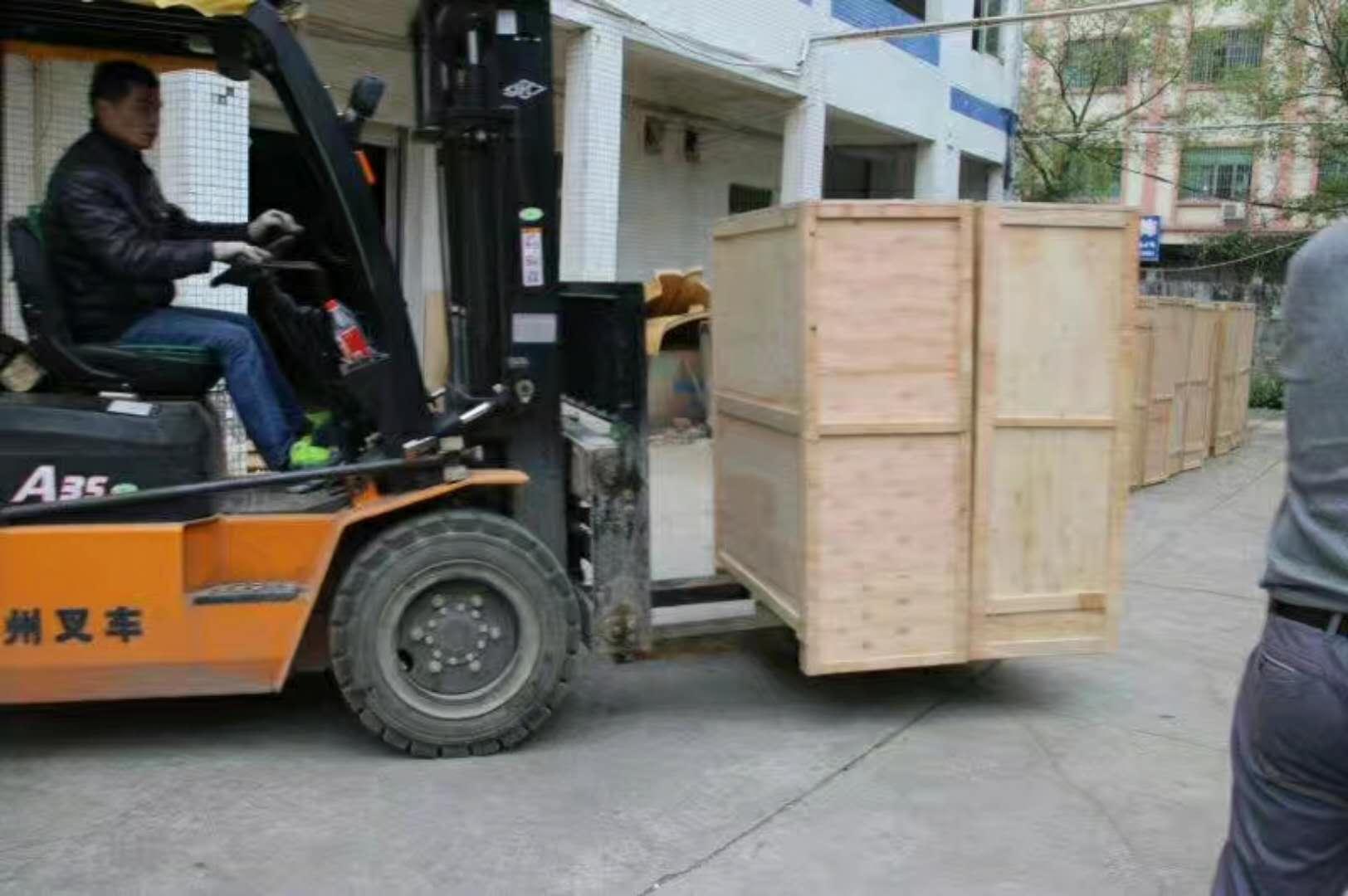 散货海运拼箱出口报关装箱现场