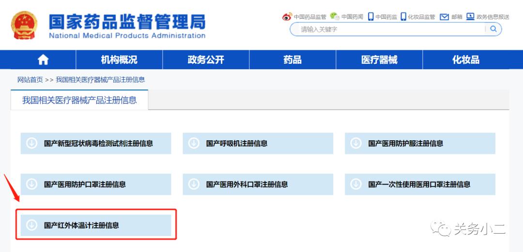 红外体温计出口通关申报指南(归类、资质、国外准入)