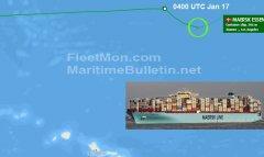 最新声明马士基Maersk Essen货船事故约750个