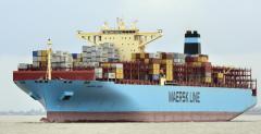 """马士基""""Maersk Essen""""货船丢失的集装箱一"""